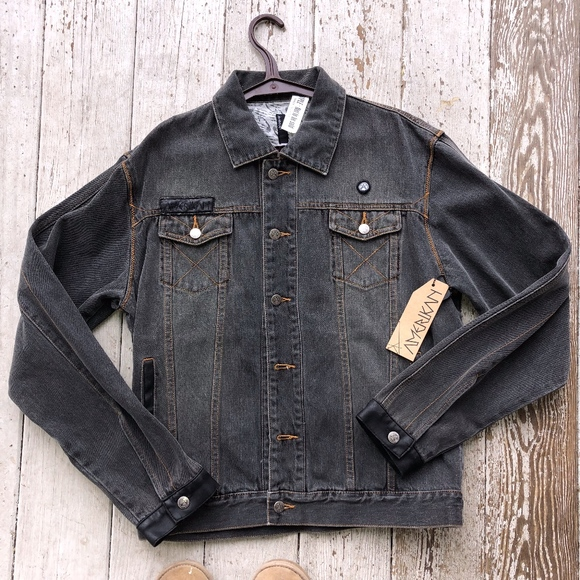 amerikan Jackets & Blazers - AMERIKAN denim jacket w/faux leather cuff/NWT